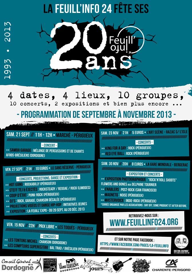 Samba Garage et les 20 ans de la Feuill'Info!!
